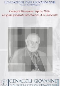 La gioia pasquale del chierico A.G. Roncalli