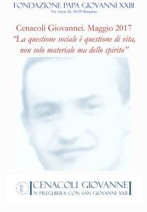 """Cenacoli Giovannei. """"La questione sociale"""""""