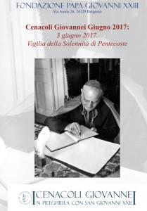 "Cenacoli Giovannei. ""3 giugno 2017 Pentecoste"""