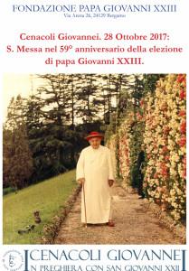 """Cenacoli Giovannei. """"59° Anniversario elezione"""""""