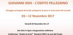 """LA NATURA DIETRO L'ANGOLO. GIOVANNI XXIII – L'OSPITE PELLEGRINO"""