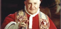 Un santino con l'augurio benedicente di san Giovanni XXIII